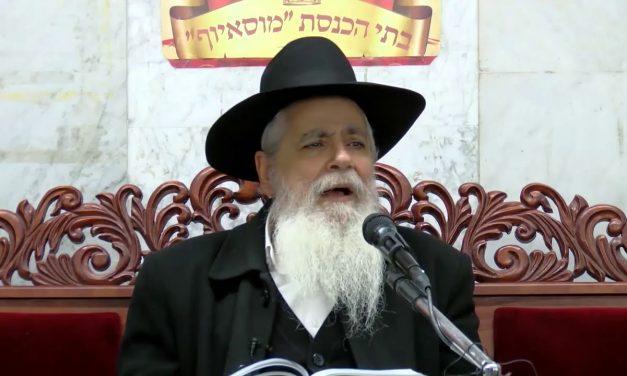 הכרת הטוב ומעלת ליל הסדר הרב יעקב ישראל לוגאסי