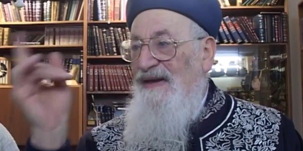 """פרשת ויגש תוכחתו הנצחית של יהודה הרב מרדכי אליהו זצ""""ל"""